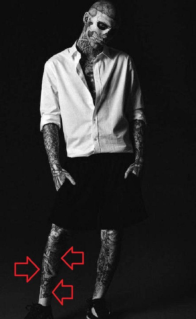 Rick Genest-Tattoo-Leg-Tattoo