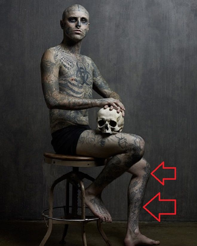 Rick Genest-Tattoo on Leg