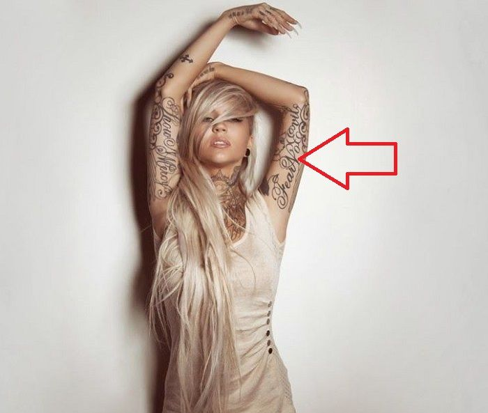 Sara Fabel-Fear No Evil-Tattoo