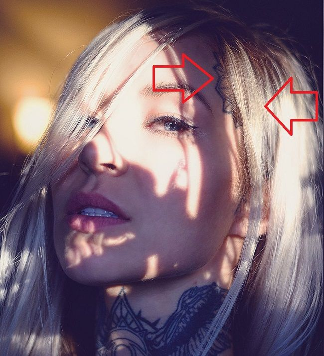 Sara Fabel-Tattoo-Left-Side of Head