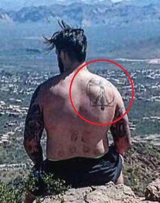Taylor Decker back tattoo
