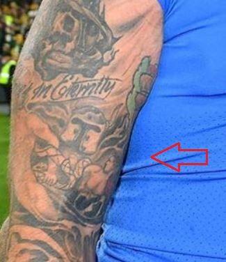 Taylor Decker gladiator tattoo
