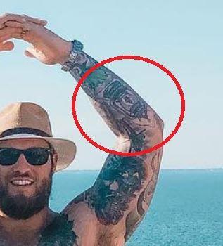 Taylor Decker lantern tattoo