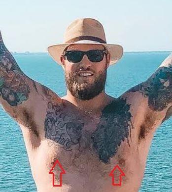 Taylor Decker lion tattoo