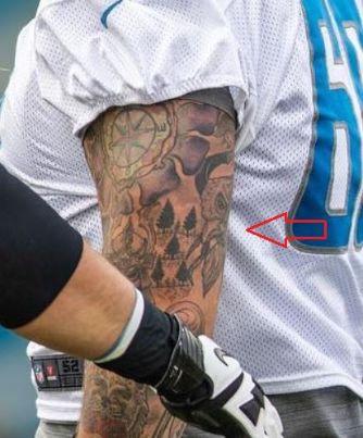 Taylor Decker viking tattoo
