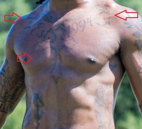 Todd Gurley cross date tattoo