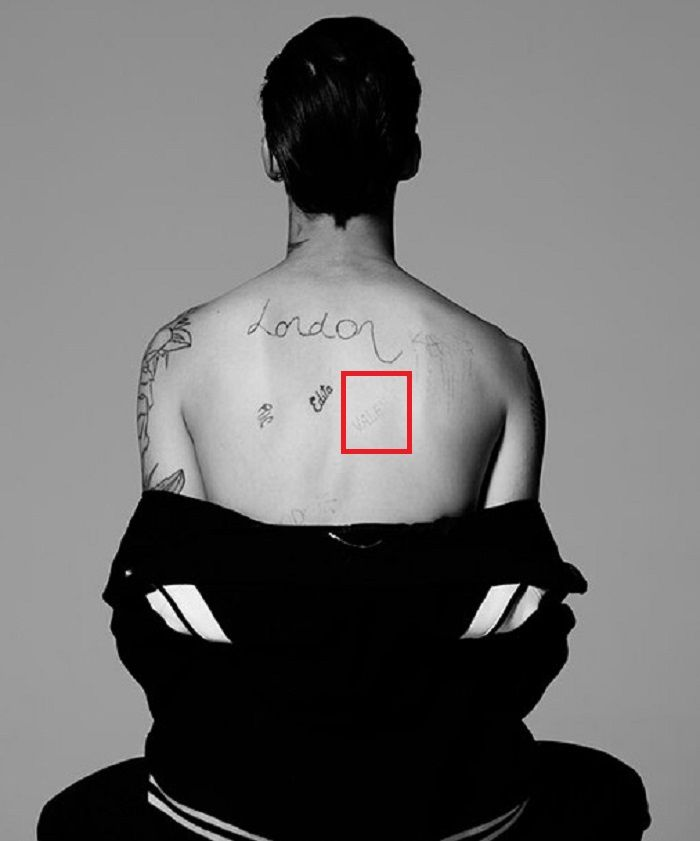 Ash Stymest-Tattoo on his back