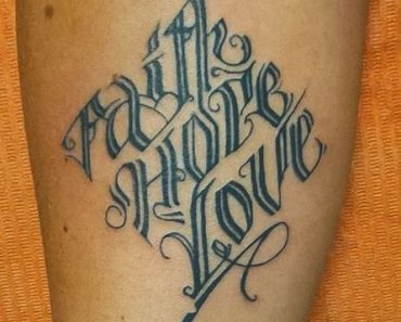 Faith Hope Love Tattoos
