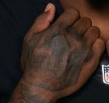 Josh Jacobs skull tattoo
