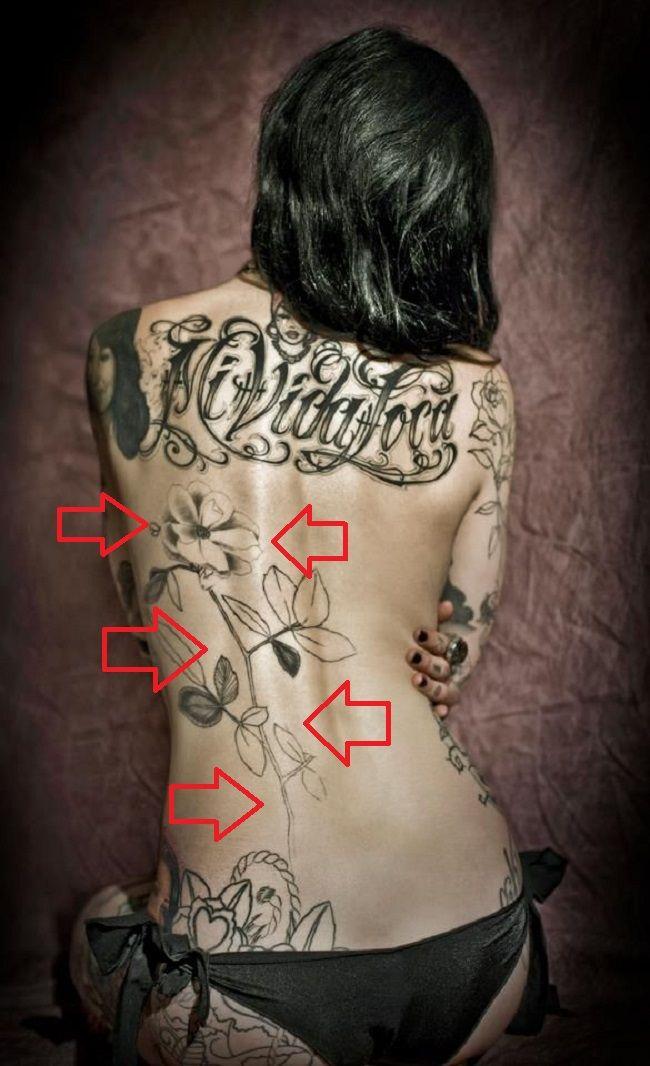 Kat Von D-Back-Tattoo