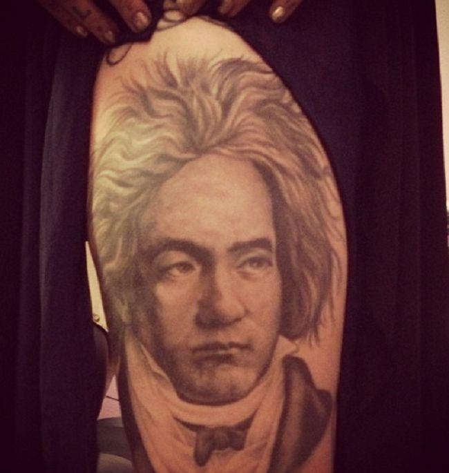 Kat Von D-Beethoven-Tattoo