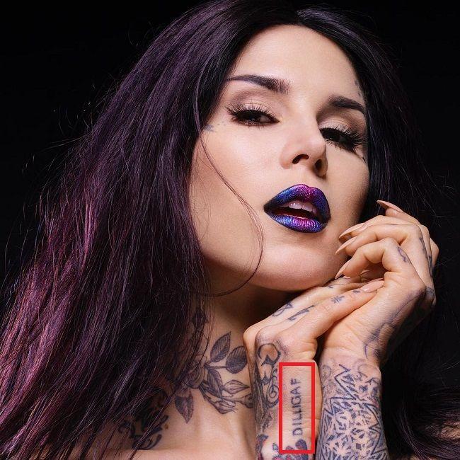 Kat Von D-DILLIGAF-Tattoo