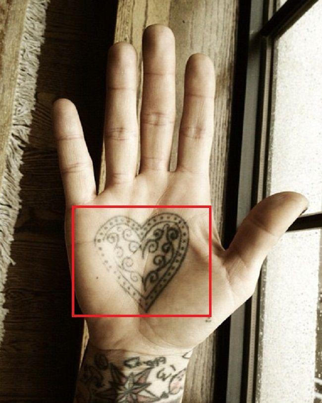 Kat Von D-Decorative Heart-Tattoo