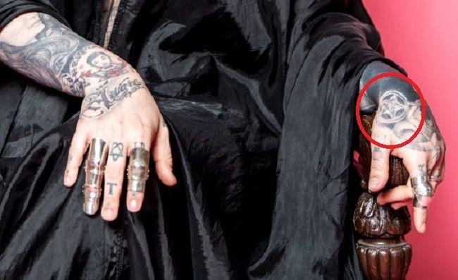 Kat Von D-Pentacle-Tattoo