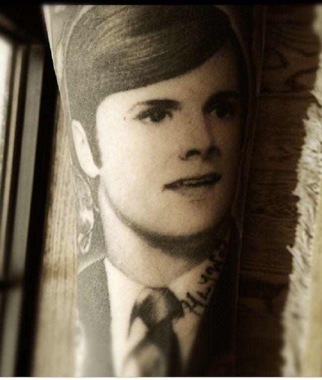 Kat Von D-Portrait of Father-Tattoo
