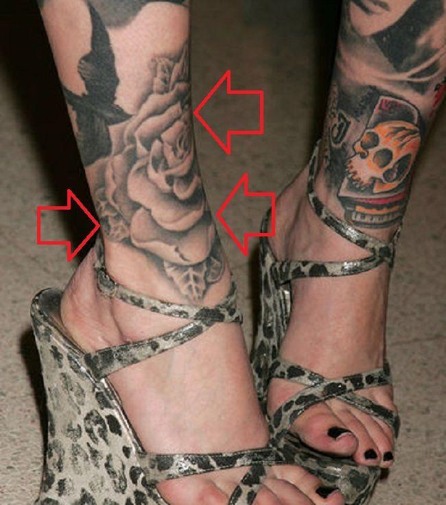 Kat Von D-Right Leg-Rose