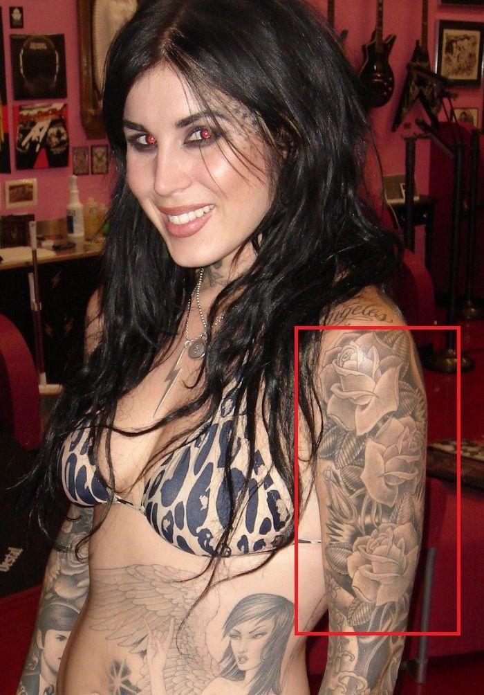Kat Von D-Roses-Tattoo