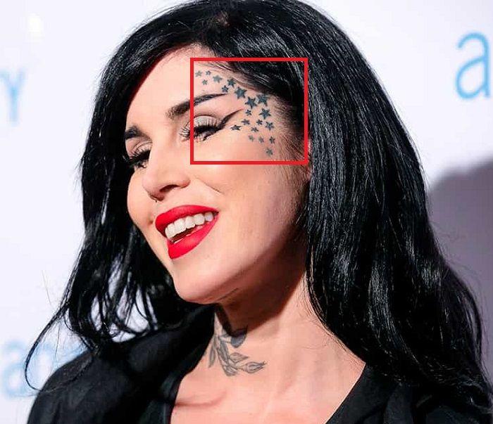 Kat Von D-Stars-Tattoo