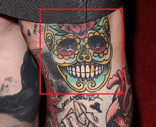 Kat Von D-Sugar Skull-Tattoo