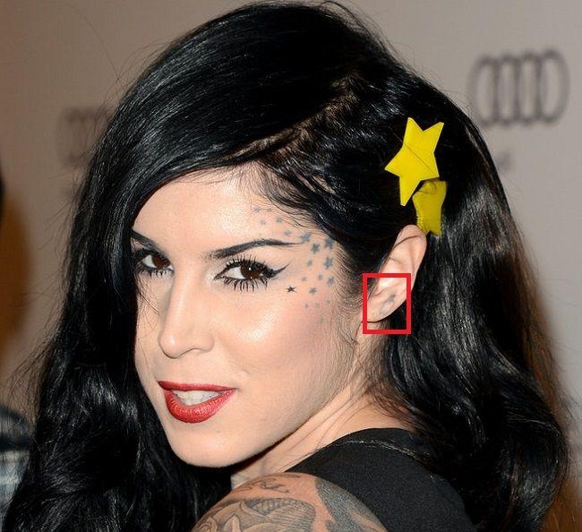 Kat Von D-Tattoo-Left-Ear