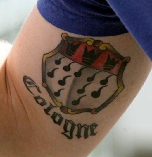 Lukas Podolski cologne tattoo