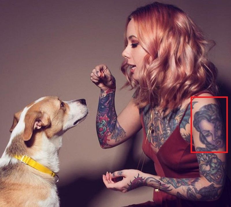Megan Massacre-Tattoo-Left-Arm-Tat
