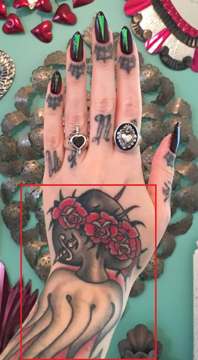 Megan Massacre-Tattoo-Left-Hand