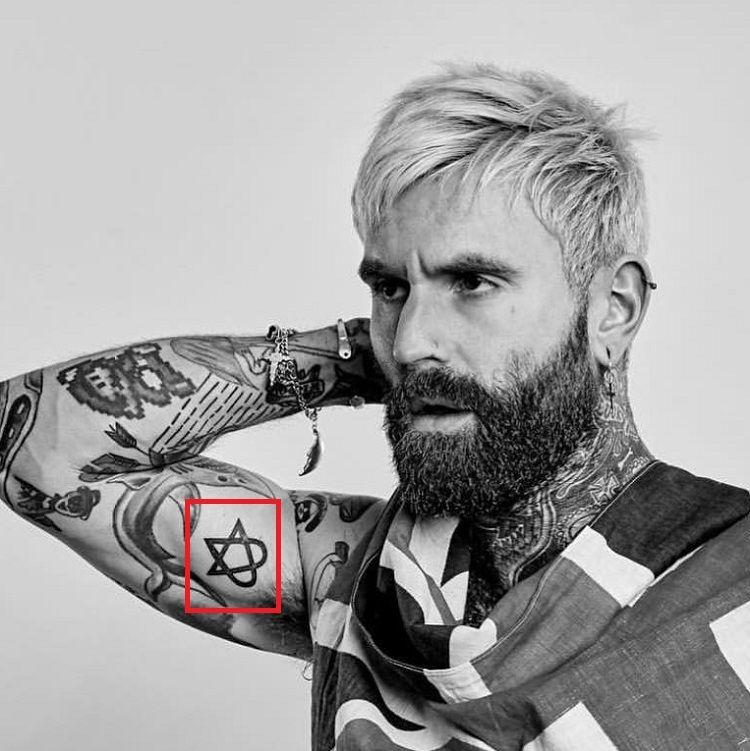Ricki Hall-Heartagram-Tattoo