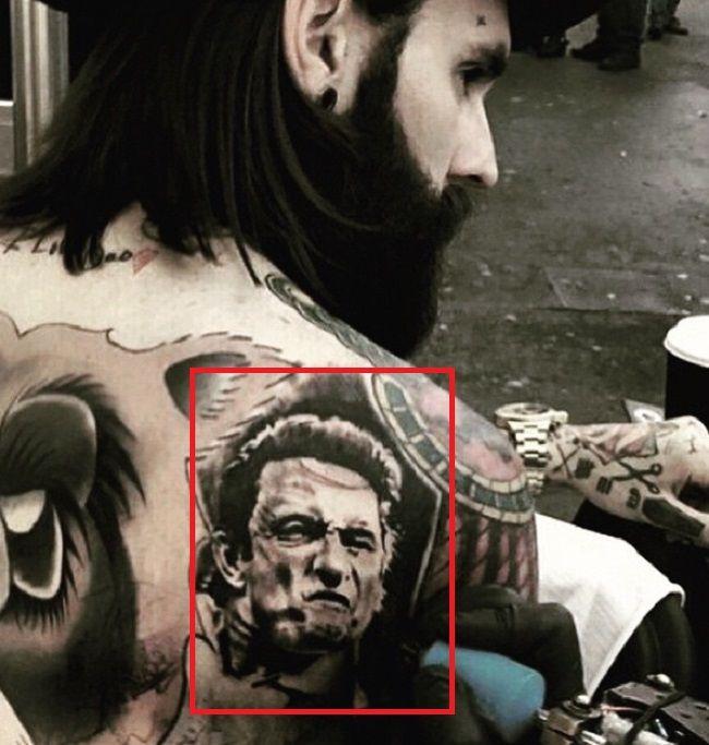 Ricki Hall-Portrait of Johnny Cash-Tattoo