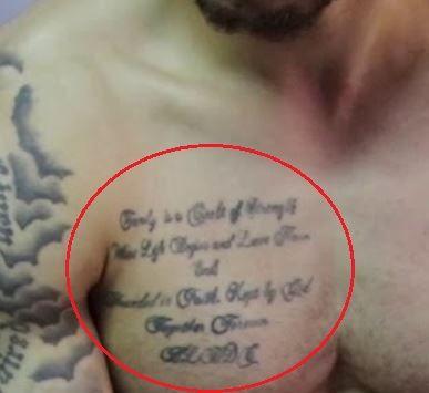 Shane Larkin chest tattoo