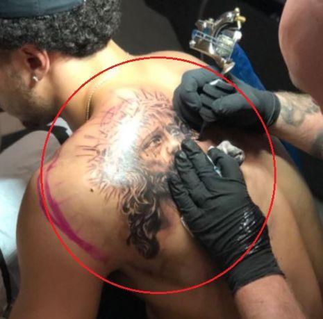 Shane Larkin jesus tattoo