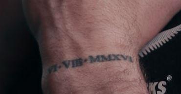 TJ Perenara date tattoo