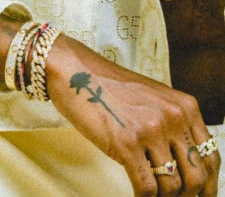 6lack rose tattoo1