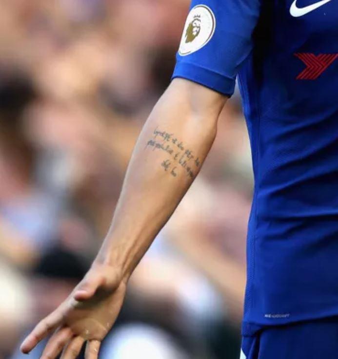 Alvaro right arm tattoo