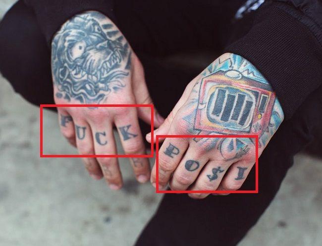 Bradley-FUCK POSI-Tattoo