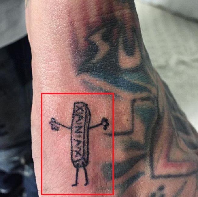 Bradley Soileau-Xanax-Tattoo