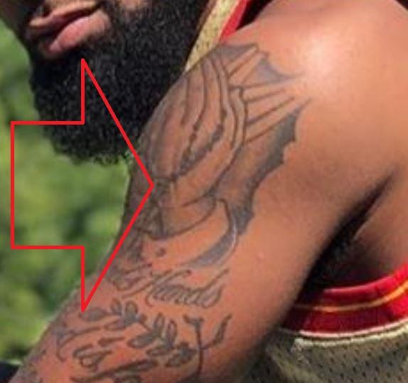 Donte Praying Hands Tattoo