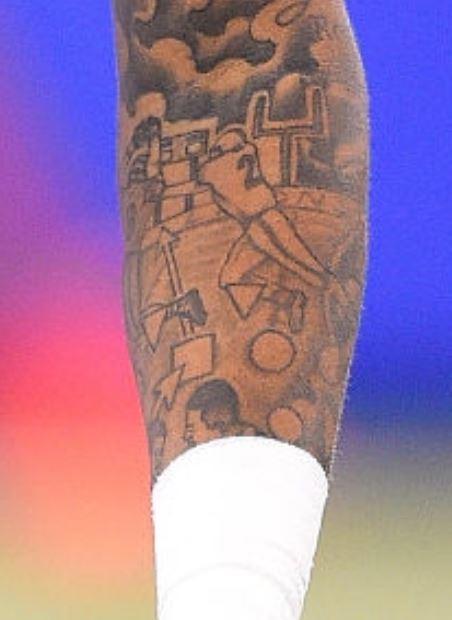 Donte left arm tattoos