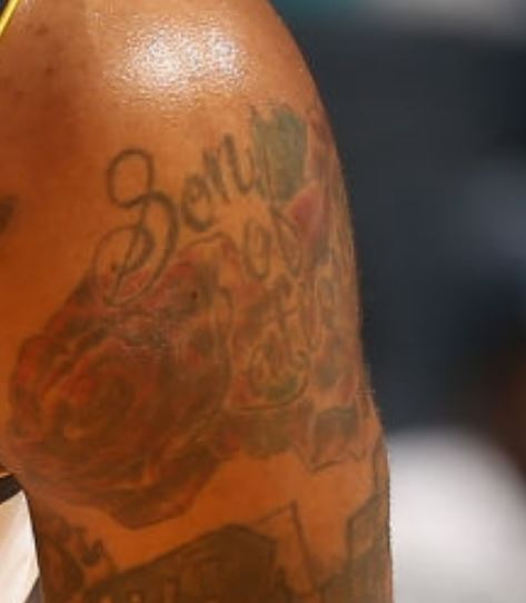 Donte left bicep Tattoo