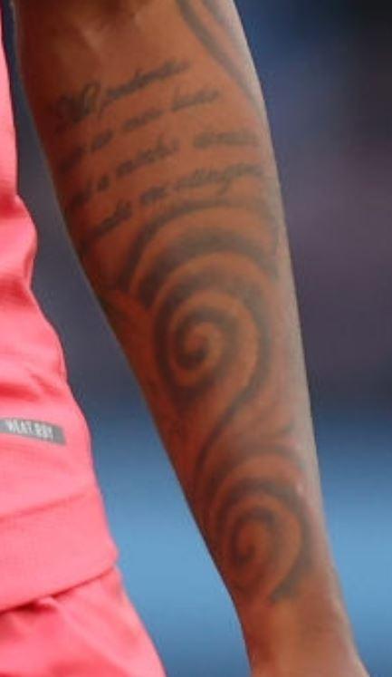 Eder left arm tattoo