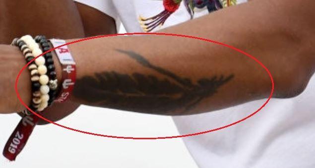 Jimmie Allen quill tattoo
