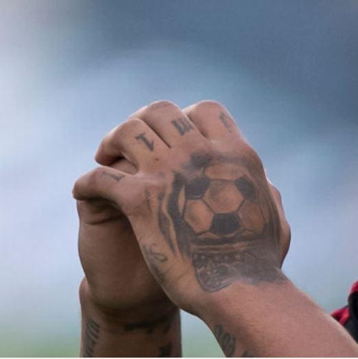 Josef crowned football tattoo