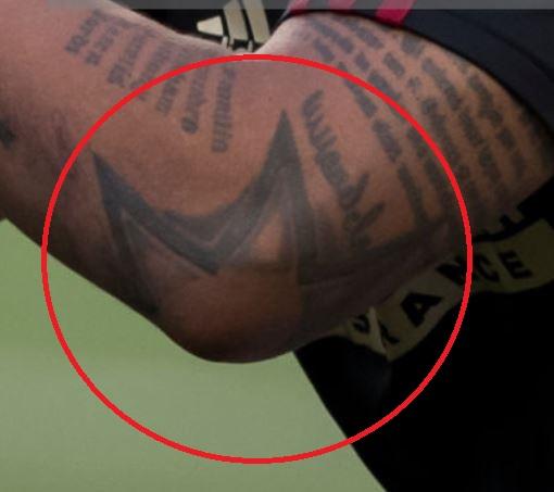 Josef star on elbow tattoo