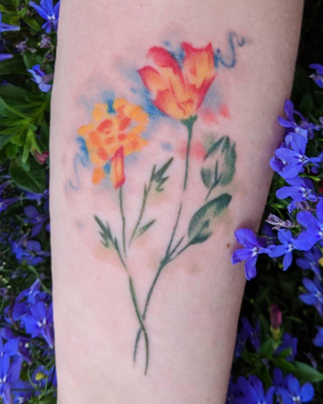 Marigold Tattoo