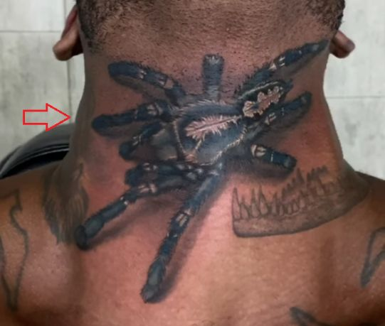 Mike Holston spider tattoo