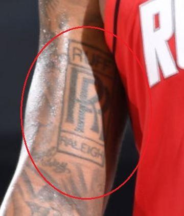PJ Tucker RR tattoo