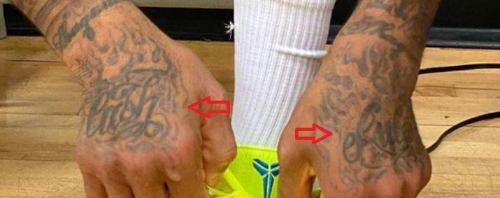 PJ Tucker hand tattoo