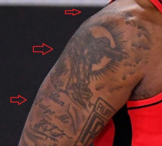 PJ Tucker jesus quote tattoo
