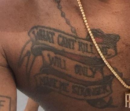 PJ Tucker quote tattoo