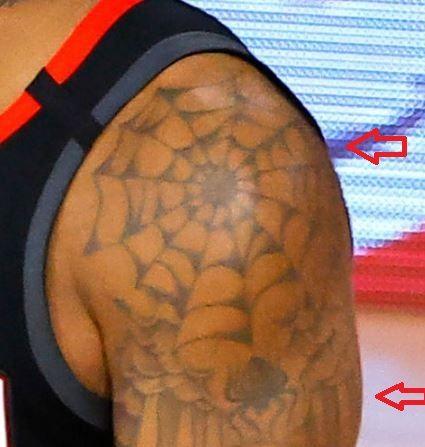 PJ Tucker spiderweb tattoo